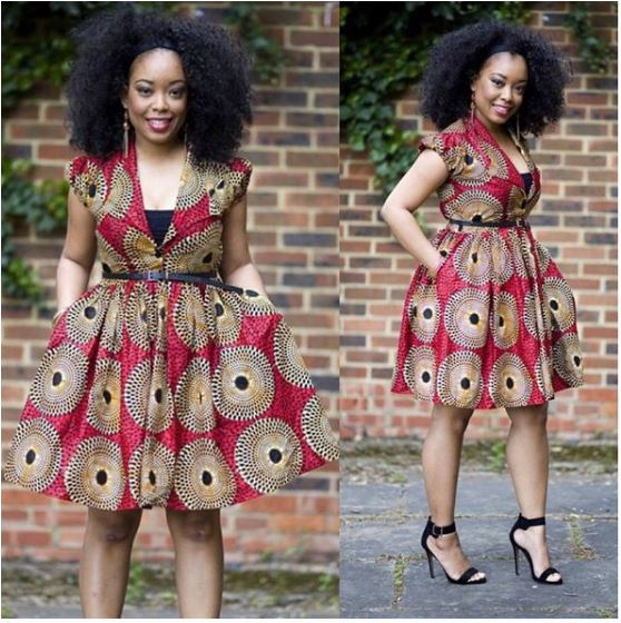 Ankara Designs And Styles Ankara Flare Gown Ankara Short