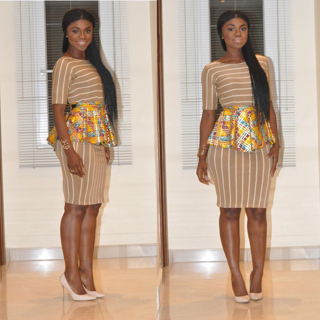 Ankara Unconventional Mordern Designs And Styles Ankara Midi Length Skirts And Ankara Short