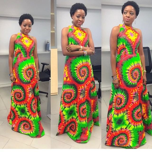 Nigerian ankara styles floor length long gowns with adire ...